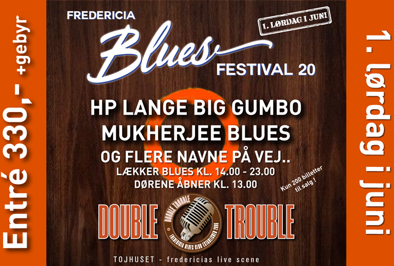 Fredericia Blues Festival 2020 AFLYST